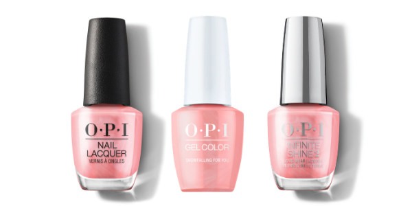 OPI Nail Lacquer, GelColor & Infinite Shine - Snowfalling For You