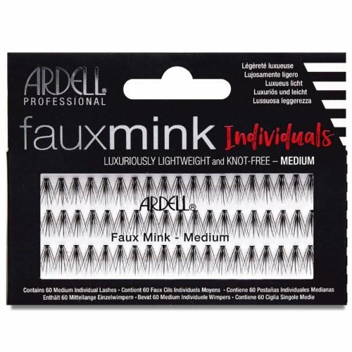 Ardell - Faux Mink Individuals Knot Free - Medium Black-Beyond Polish