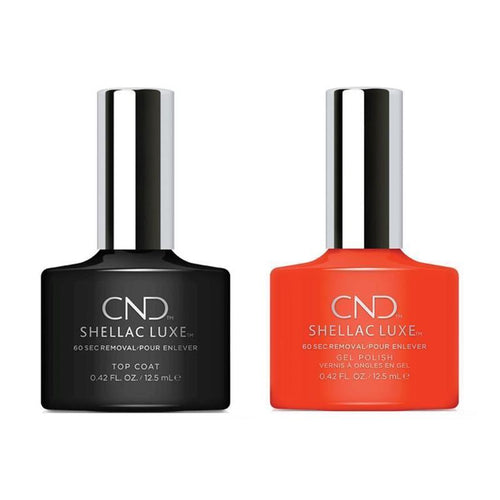 CND - Shellac Luxe - Top Coat & Electric Orange 0.42 oz - #112-Beyond Polish