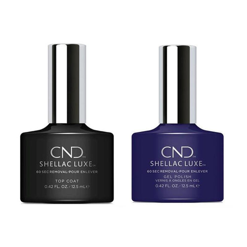 CND - Shellac Luxe - Top Coat & Eternal Midnight 0.42 oz - #254-Beyond Polish