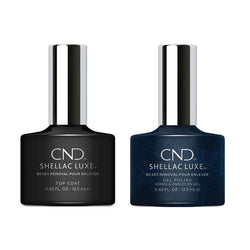 CND - Shellac Luxe - Top Coat & Midnight Swim 0.42 oz - #131-Beyond Polish