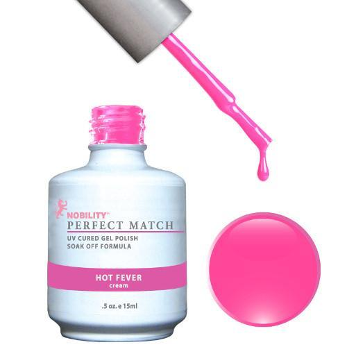LeChat Perfect Match Gel / Lacquer Combo - Hot Fever 0.5 oz - #PMS44-Beyond Polish