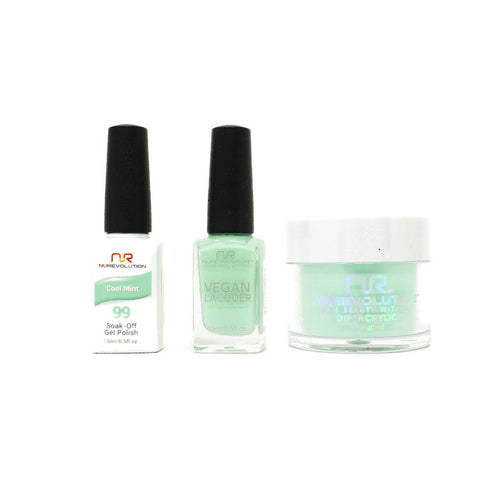 NuRevolution - Gel, Lacquer & Dip Combo - Cool Mint - #99-Beyond Polish