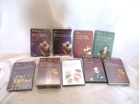 NEW HUGE LOT SET Great Courses DVD COOKING HISTORY LANGUAGE + CD