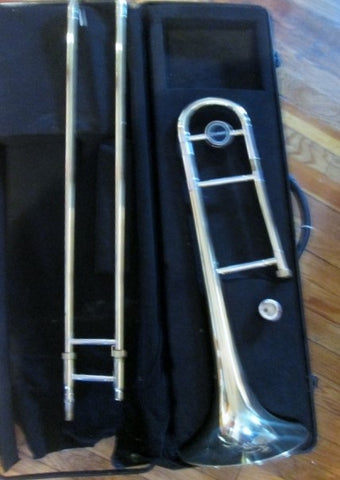 WINDSOR TROMBONE BRASS HORN Musical Instrument Case BRASS