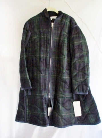 NEW SACAI  PLAID TARTAN jacket coat 1 NWT GREEN BLUE NAVY NWT Womens