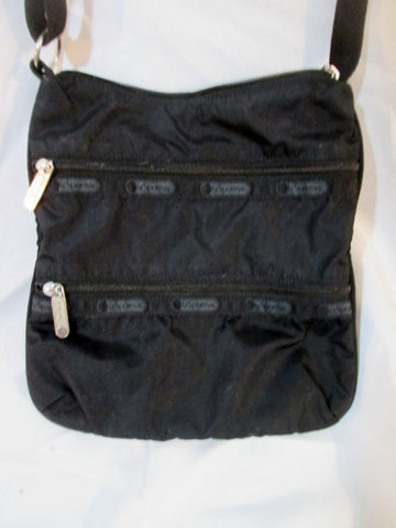 LESPORTSAC Shoulder Bag Crossbody Swingpack Purse BLACK Le sport sac