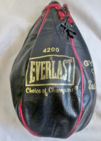 "Everlast 4 Lbs. 4200 Speed Bag 9.5"" LEATHER Boxing Punching Training Gym Fitness BLACK"