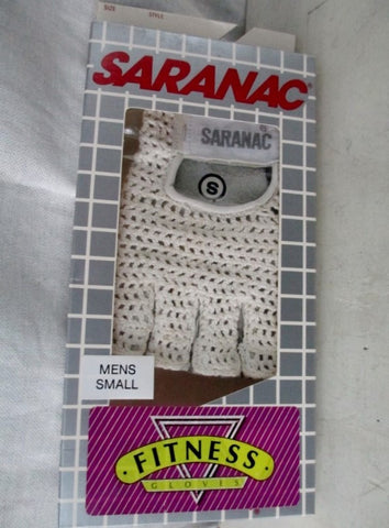 NEW Mens SARANAC MESH Workout Cycling Aerobics Fitness Gloves WHITE S