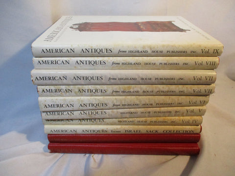 1957-87 10 VOLUME SET, AMERICAN ANTIQUES, ISRAEL SACK COLLECTION, HCDJ,