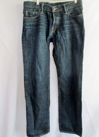 Mens ABERCROMBIE & FITCH Regular Straight Leg Pants Jeans Dungarees BLUE 33 X 32
