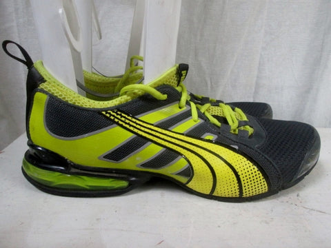Mens PUMA VOLTAIC 4M RUNNING Sneakers Athletic Shoes 10 YELLOW Training MESH