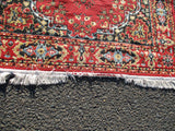 4' x 6' PERSIAN Turkish ORIENTAL ETHNIC AREA Rug Carpet RED FLORAL Mat Fringe