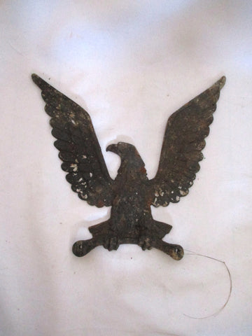 Vintage ANTIQUE Cast Metal BALD EAGLE BIRD Rustic Americana Art PATRIOT