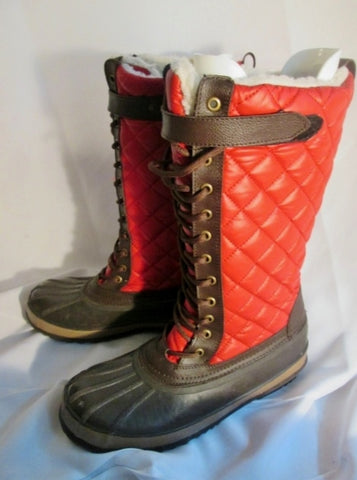Mens ATHLETECH Waterproof Quilted Snow Duck Boot Shoe THERMOLITE 11 RED