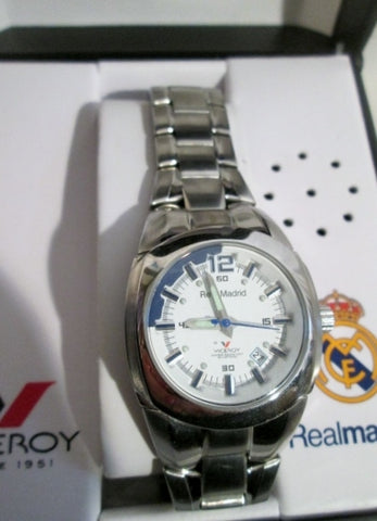 NEW RELOJ OFICIAL VICEROY BEST CLUB XX CENTURY WATCH STAINLESS STEEL in MUSIC BOX!