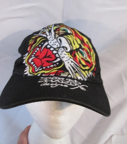 DON ED HARDY CHRISTIAN AUDIGIER embroidered TIGER baseball cap hat BLACK