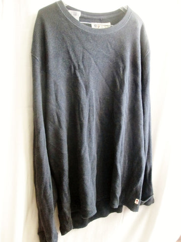 MENS LUCKY BRAND 80318 Thermal Long Sleeve Shirt Tee Top GRAY XL Crewneck Sexy