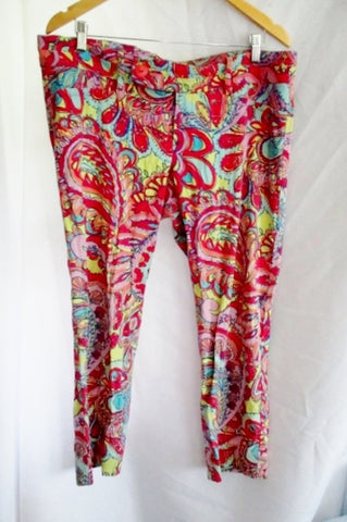 Womens LILLY PULITZER Stretchy Cropped Pants Capri 14 PAISLEY Trouser