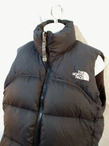 THE NORTH FACE 700 Series DOWN VEST Sleeveless JACKET Coat BLACK S / P