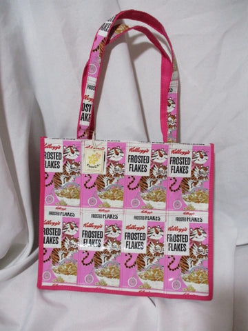 NEW NWT COCO K. FROSTED FLAKES PINK Tote Bag Shopper Carryall Purse