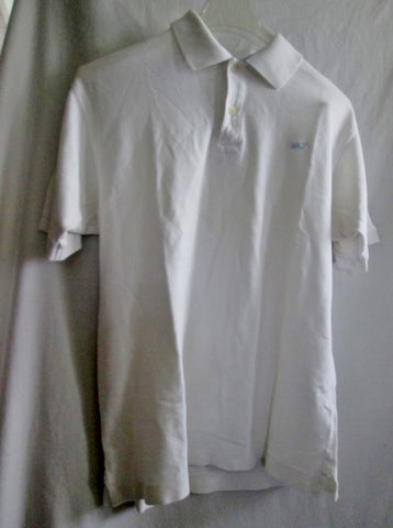 Mens VINEYARD VINES 100% Cotton POLO Shirt WHITE S Whale Preppie Club