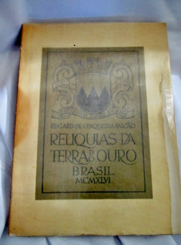 Vintage 1946 RELIQUIA DE TERRA DO OURO BRASIL Book SC SLIPCASE Art Print Photography