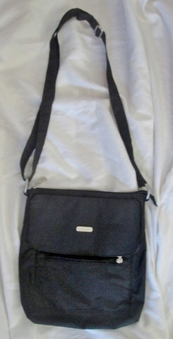 BAGGALLINI Nylon shoulder travel bag man purse crossbody BLACK organizer