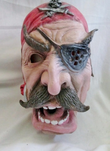 Adult PIRATE MASK HALLOWEEN Party Disguise Scary Eye Patch Skull Crossbones Cosplay Moustache