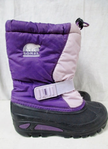 Kids Toddler Girls SOREL Insulated Rain Snow Duck Boots Shoes Winter PURPLE 13