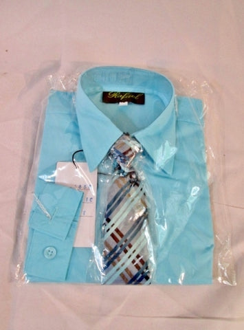 NEW BOYS RAFAEL Dress Shirt Tie Set 4T ARCTIC BLUE Recital Party Wedding