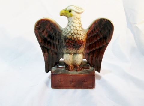 Vintage EAGLE BIRD EMIGRANT INDUSTRIAL SAVINGS BANK MONEY CHEST Coin Ceramic Pottery