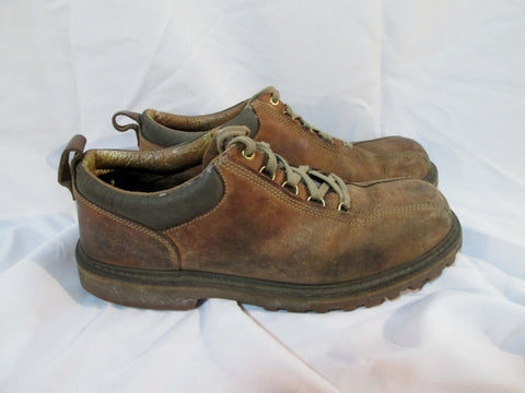 Mens Timberland 87097 Leather Trek Hiking WORK SHOE 13 BROWN Boot