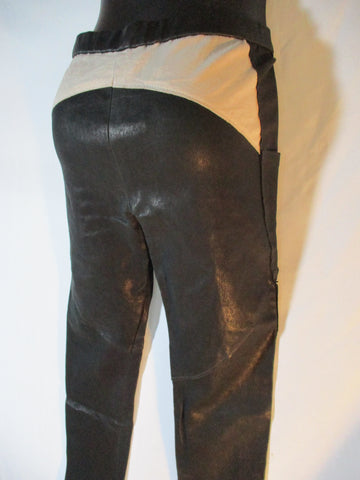 NEW ISABEL MARANT LEATHER SKI Trouser PANT 38 BLACK Legging NWT