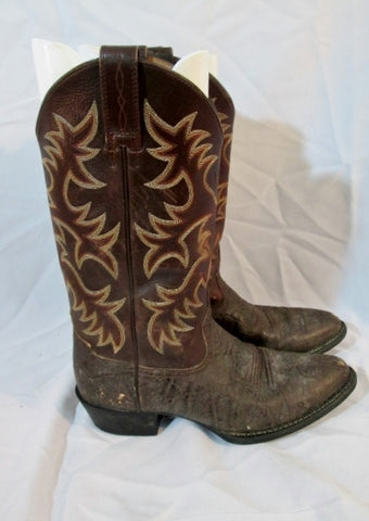 Mens ARIAT HERITAGE Western Cowboy Rocker Rider Leather BOOT BROWN 9 Distressed