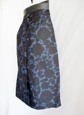 NEW NWT MARC JACOBS CLARICE FLOWERS SKIRT 6 BLUE BLACK Womens