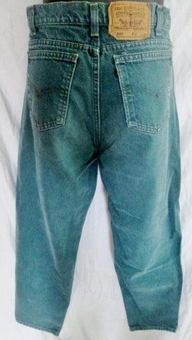 Womens Mens LEVI'S 550 Relaxed Fit JEANS Denim PANTS 32X30 OCEAN BLUE Dungarees