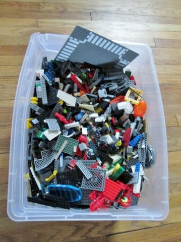 LOT 25 LB LEGO 1000s Pcs Creative Play Building Toy Minifig Plate Construction Set Fun