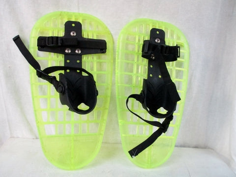 LITTLE BEAR GRIZZLY kids snow shoes snowshoes ADJUSTABLE BINDING GREEN USA