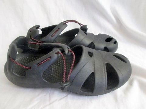 NEW Mens OZARK TRAIL Washable Vegan SHOES Sandals BLACK 10 Camping Trek