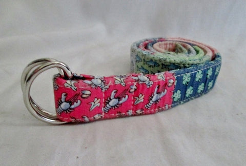 Kids VINEYARD VINES Signature PATCHWORK Cotton Vegan D Ring Belt L
