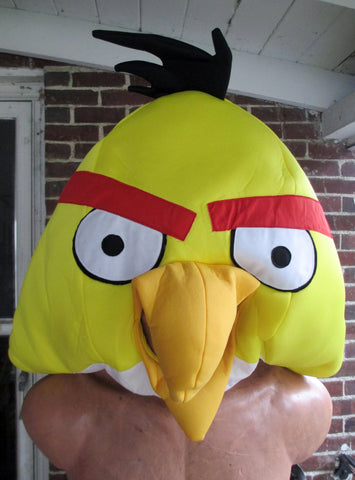 Angry Birds Game App Adult Halloween Play Costume Mascot Party Disguise YELLOW Cosplay