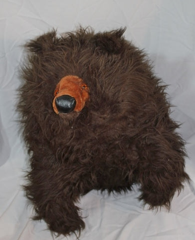 Huge Beanbag BRECHNER Plush Animal Large BROWN BEAR Stuffed Life Size WOW!