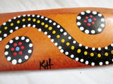 "Handmade KH 14"" Native Wood Aboriginal Returning Boomerang Kangaroo Australia"