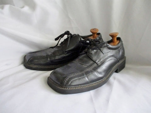 CA CARRINI COLLECTION Leather OXFORD Shoe BLACK 13 Square Toe Derby Mens