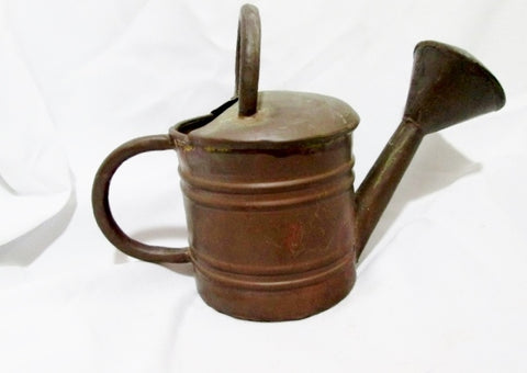 TURKART Handmade Turkey Copper Watering Can Garden Rustic Primitive Ethnic