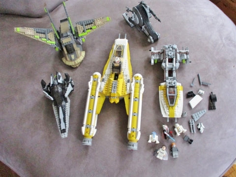 Set LOT STAR WARS LEGO KIT Spaceships FINISHED COMPLETED Minifig Building Toy Fun