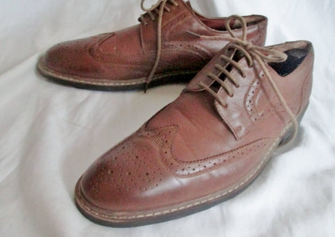 Mens PENGUIN BY MUNSINGWEAR WELTON Leather WINGTIP OXFORD Shoes 10 BROWN