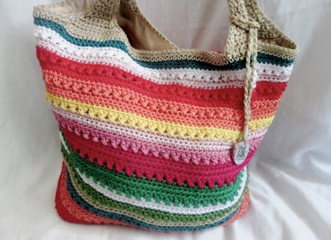 THE SAK Hobo Shoulder Bag Knit Vegan Handbag Purse Hippie Sling RAINBOW STRIPE Pride