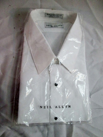 NEW Mens NEIL ALLYN Tuxedo Dress Shirt WHITE 2XL - 34/35 Formal Wedding